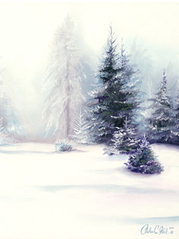 Winter Wonderland Art by Andrea Kirk